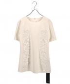 Viaggio Blu(ビアッジョブルー)の古着「コード刺繍ブラウス」 ホワイト