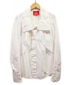 Vivienne Westwood RED LABEL(ヴィヴィアンウエストウッド レッドレーベル)の古着「オープンカラーボウタイシャツ」|ホワイト