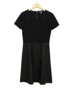 DKNY(ダナキャランニューヨーク)の古着「ドッキングワンピース」 ブラック