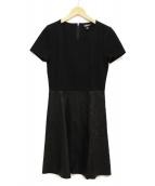 DKNY(ダナキャランニューヨーク)の古着「ドッキングワンピース」|ブラック
