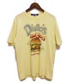 JUNYA WATANABE MAN(ジュンヤワタナベ マン)の古着「Diegos Burgers Tee」|イエロー