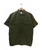 YAECA(ヤエカ)の古着「半袖シャツ」|オリーブ
