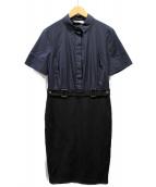 TORY BURCH(トリーバーチ)の古着「ブラウスワンピース」|ネイビー