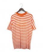 MARTINE ROSE(マーティン ローズ)の古着「ボーダーTシャツ」 オレンジ
