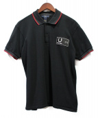 GROUND Y(グラウンドワイ)の古着「PATCHED PIQUE SHIRT」|ブラック