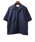 salvy;(サヴィー)の古着「オープンカラーシャツ」|ネイビー