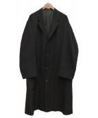Y's for men(ワイズフォーメン)の古着「ウールギャバコート」|ブラック