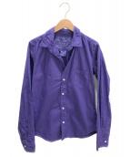 Frank&Eileen(フランクアンドアイリーン)の古着「スキッパーシャツ」|パープル