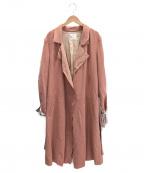 forte forte(フォルテフォルテ)の古着「スプリングコート」|ピンク