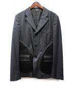 COMME des GARCONS Homme Plus(コムデギャルソンオムプリュス)の古着「切替テーラードジャケット」|グレー