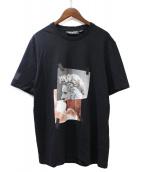 NEIL BARRETT(ニールバレット)の古着「プリントTシャツ」|ブラック