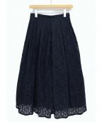 TSURU by MARIKO OIKAWA(ツルバイマリコオイカワ)の古着「レーススカート」 ネイビー