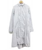Y's(ワイズ)の古着「シャツワンピース/SAMPLE品」|ライトグレー