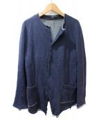 Y's(ワイズ)の古着「スウェットカーディガン/SAMPLE品」|ネイビー