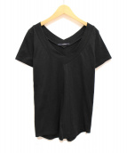 LIMI feu(リミフゥ)の古着「VネックTシャツ」|ブラック