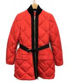 MIU MIU(ミュウミュウ)の古着「キルティングダウンコート」 レッド