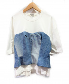 JUNYA WATANABE COMME DES GARCONS()の古着「デニムドッキングTシャツ」|ホワイト