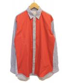 COMME des GARCONS SHIRT(コムデギャルソンシャツ)の古着「切替シャツ」|スカイブルー×レッド