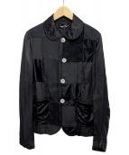 tricot COMME des GARCONS(トリコ コムデギャルソン)の古着「切替デザインセットアップ」|ブラック