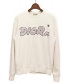 Dior(ディオール)の古着「×KAWS ロゴデザインスウェットシャツ」|ホワイト