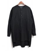 Yohji Yamamoto pour homme(ヨウジヤマモトプールオム)の古着「20SS ヨークシャツ」|ブラック