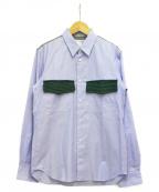 COMME des GARCONS SHIRT BOY(コムデギャルソンシャツ ボーイ)の古着「切替シャツ」 スカイブルー