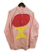 COMME des GARCONS SHIRT BOY(コムデギャルソンシャツ ボーイ)の古着「アップリケシャツ」 ピンク