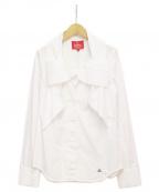 Vivienne Westwood RED LABEL(ヴィヴィアンウエストウッドレッドレーベル)の古着「ボウタイシャツ」|ホワイト