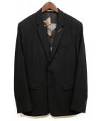 DIOR(ディオール)の古着「モッシュピットグラフィック テーラードジャケット」|ブラック