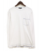 COMME des GARCONS HOMME(コムデギャルソン オム)の古着「ポケットカットソー」|ホワイト