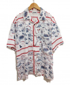 KOZABURO(コウザブロウ)の古着「20SS State Scarf Print Shirts」 ホワイト
