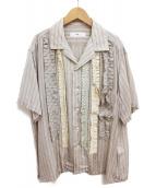 TOGA VIRILIS(トーガ ヴィリリース)の古着「20SS キュプラフリルシャツ」 ベージュ