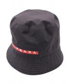 PRADA(プラダ)の古着「バケットハット」|ネイビー
