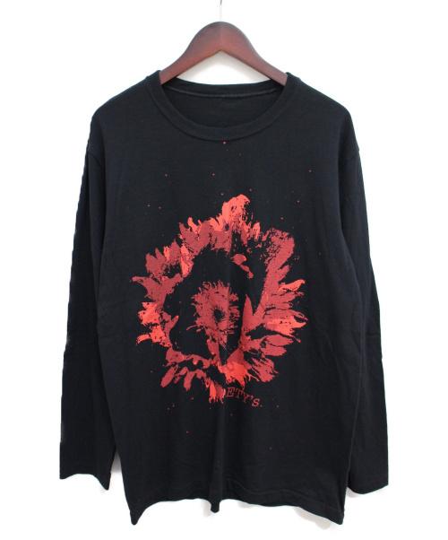 s'yte Yohji Yamamoto(サイト ヨウジヤマモト)s'yte Yohji Yamamoto (サイト ヨウジヤマモト) プリントカットソー ブラック サイズ:3の古着・服飾アイテム