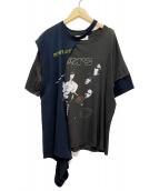 DISCOVERED(ディスカバード)の古着「ワイドバンドTシャツ」|ブラック