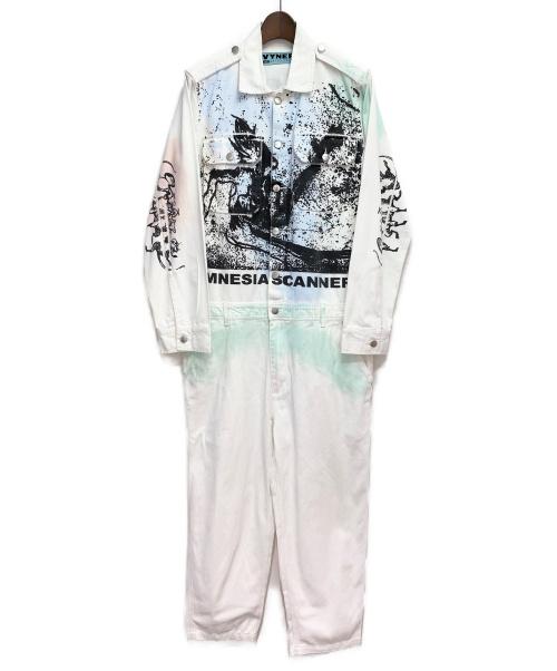 VYNER ARTICLES(ヴァイナー アーティクルズ)VYNER ARTICLES (ヴァイナー アーティクルズ) 20SS プリントジャンプスーツ ホワイト サイズ:Mの古着・服飾アイテム