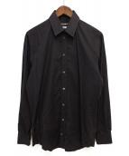 DOLCE & GABBANA(ドルチェアンドガッバーナ)の古着「フリルシャツ」 ブラック