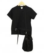 noir kei ninomiya(ノワール ケイ ニノミヤ)の古着「ポケット付きTシャツ」|ブラック