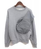 DIESEL RED TAG × GR-UNIFORMA(ディーゼル レッドタグ×ジーアール・ユニフォーマ)の古着「切替スウェットシャツ」|グレー