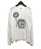 Yohji Yamamoto pour homme(ヨウジヤマモトプールオム)の古着「プリントカットソー」|ホワイト