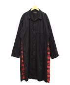 syte(サイト)の古着「サイドチェックシャツコート」 ブラック