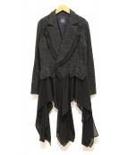 LIMI feu(リミフゥ)の古着「レイヤードコート」 グレー