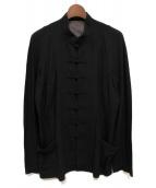 Yohji Yamamoto pour homme(ヨウジヤマモトプールオム)の古着「チャイナジャケット」|ブラック
