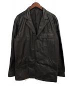 Y's for men(ワイズフォーメン)の古着「レザーテーラードジャケット」|ブラック