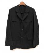 Y's for men(ワイズフォーメン)の古着「ウールギャバジンジャケット」|ブラック
