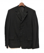 Y's for men(ワイズフォーメン)の古着「ワッペン装飾ジャケット」|ブラック