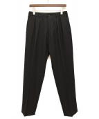 Y's for men(ワイズフォーメン)の古着「ウールギャバワイドパンツ」|ブラック