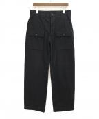 Y's for men(ワイズフォーメン)の古着「ミリタリーワイドパンツ」|ブラック