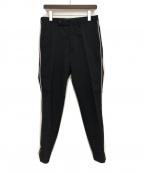 Y's for men(ワイズフォーメン)の古着「サイドラインパンツ」|ブラック