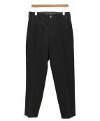 Yohji Yamamoto pour homme(ヨウジヤマモトプールオム)の古着「ウールワイドパンツ」|ブラック